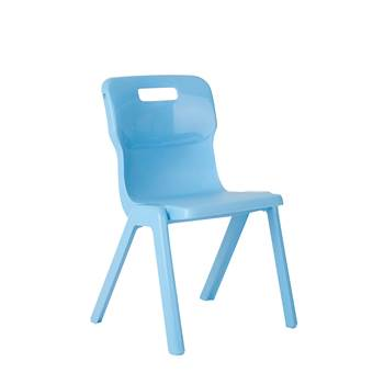 All-in-one plastic chair, H 260 mm, sky blue