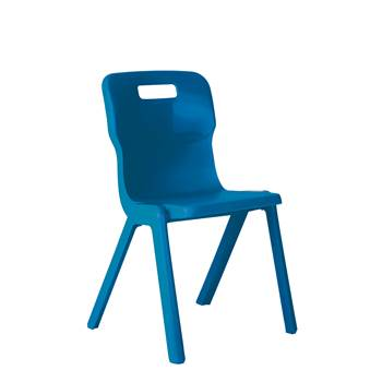 All-in-one plastic chair, H 310 mm, blue