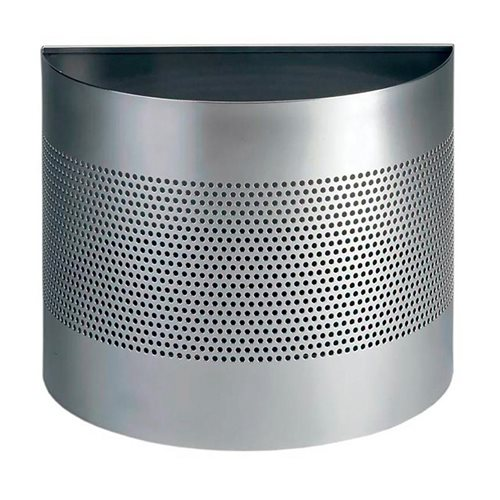 Semi-circle waste bin: 20L: silver