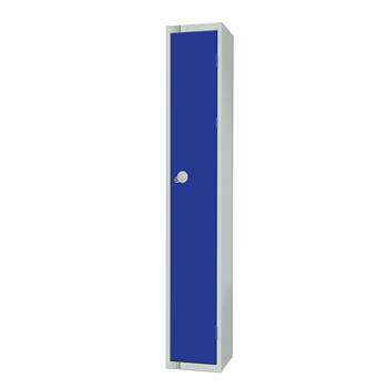 Elite locker, 1 door, 1800x300x300 mm, dark blue