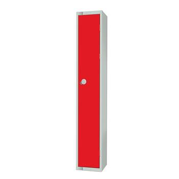 Elite locker, 1 door, 1800x300x300 mm, red
