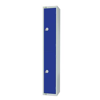 Elite locker, 2 door, 1800x300x300 mm, dark blue