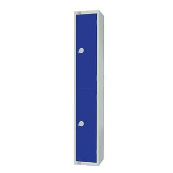 Elite locker, 2 door, 1800x300x300 mm, dark blue