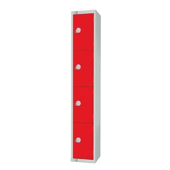 Elite locker, 4 door, 1800x300x300 mm, red