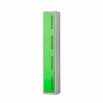 Elite perforated locker, 1 door, 1800x300x300 mm, green