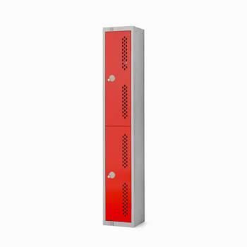 Elite perforated locker, 2 door, 1800x300x300 mm, red