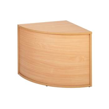 Corner reception desk, 800x800x742 mm, beech laminate