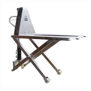 High lift pallet truck: stainless