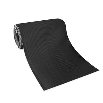 Wide ribbed matting, 900x10000x6 mm, black