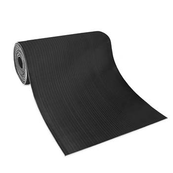 Wide ribbed matting, 1200x10000x6 mm, black