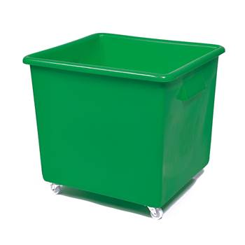 Bottle skip, 620x670x615 mm, 165 L, green