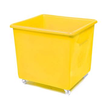 Bottle skip, 620x670x615 mm, 165 L, yellow