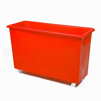 Bottle skip, 620x970x380 mm, 185 L, red