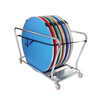 Round table trolley, 6 table capacity, 1738x751x1000 mm