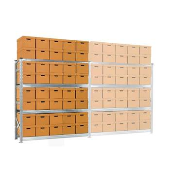 Archive shelving with boxes, add-on unit, 4 shelves, 1972x1877x550 mm