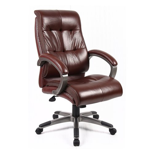 """""""Catania"""" brown leather-faced manager's chair"""