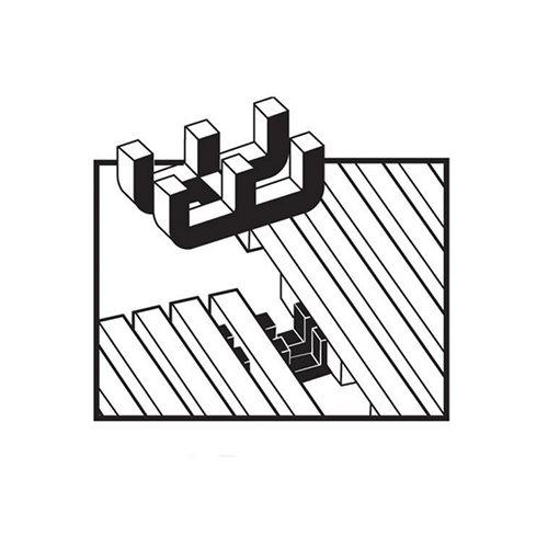 Dual purpose connector clips: 10 pcs
