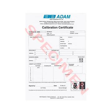 Standard Calibration Certificate