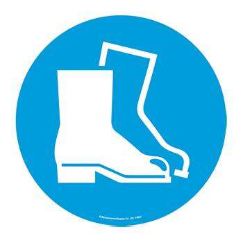 Graphic floor sign, Protective footwear, symbol only