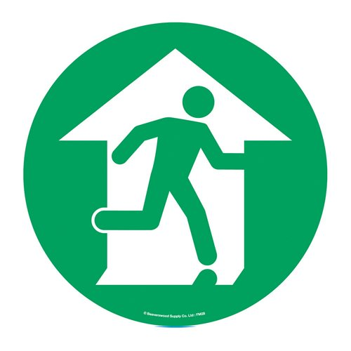 Graphic floor sign: Fire exit