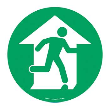 Graphic floor sign, Fire exit, symbol only