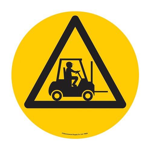 Graphic floor sign: Forklift area