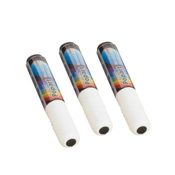 Dry and wetwipe glassboard markers: white (3pcs)