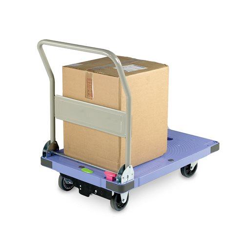 Silentmaster® braked folding platform trolley: 300kg