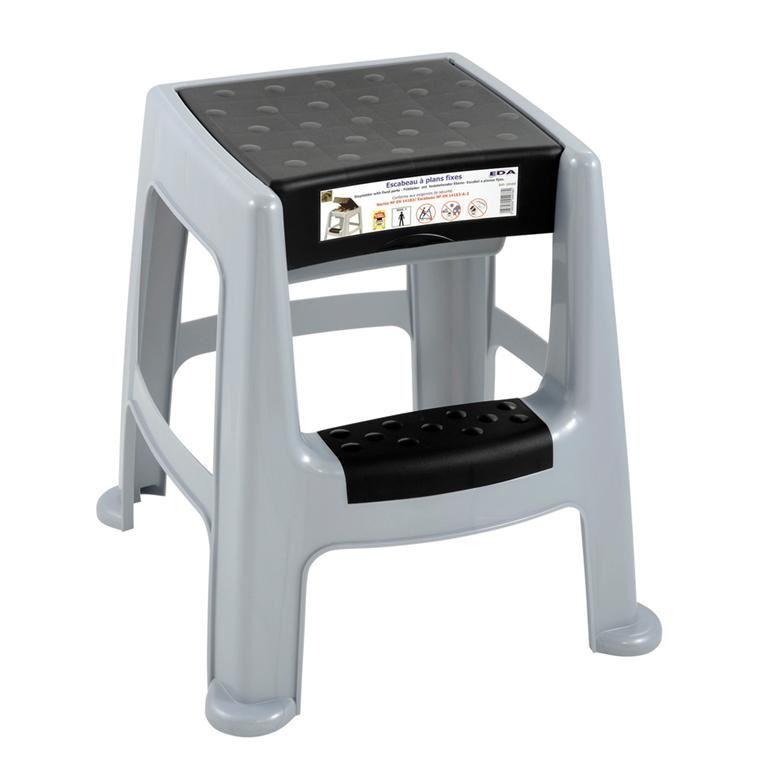 Plastic step stool with storage: 150kg