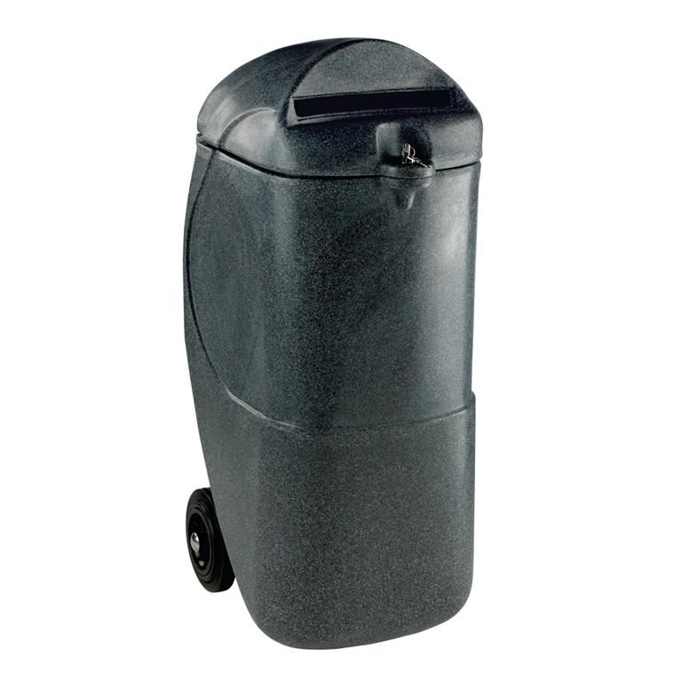 Mobile confidential waste bin: 90L