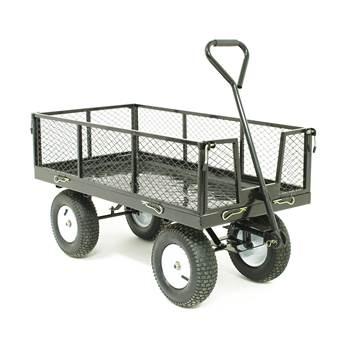 Industrial platform truck with mesh sides: 350kg