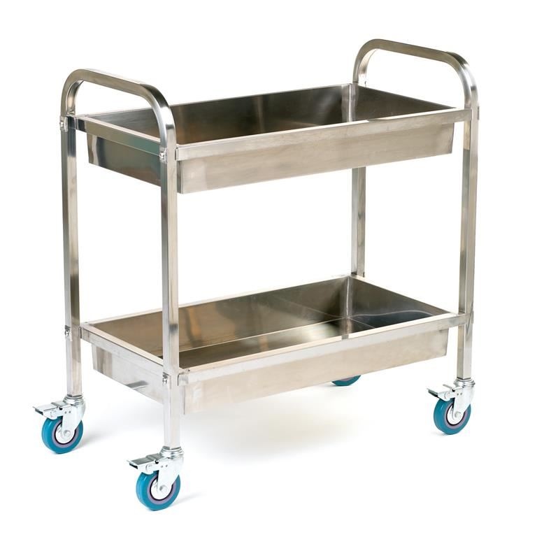 Stainless Steel Tray Trolley 100 Kg Aj Products