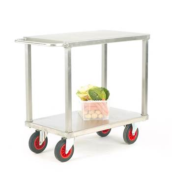Stainless steel table trolley