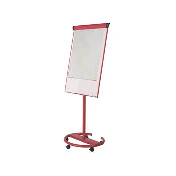 Ultimate mobile flip chart easel, 700x1000 mm, red