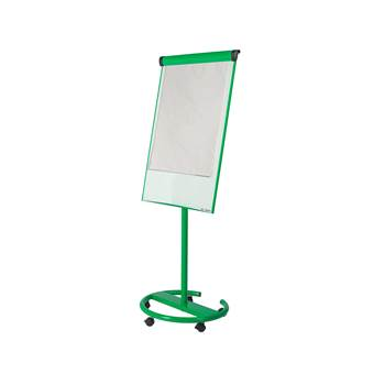 Ultimate mobile flip chart easel, 700x1000 mm, green