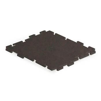 Sport tile interlocking rubber matting, 610x610 mm, black