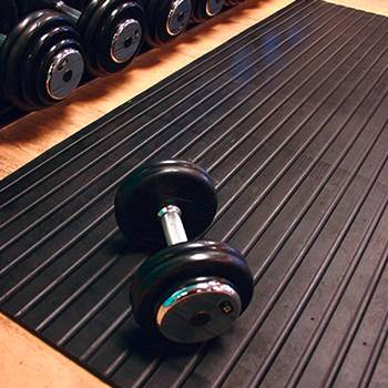 Weight room matting, 1200x1800x12 mm, black