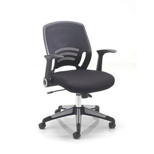 """Carbon"" mesh back chair"