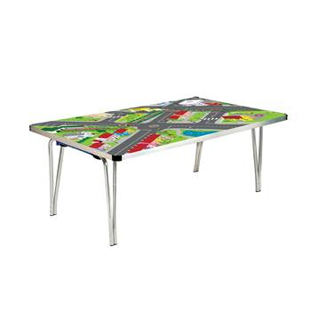 Playtime folding table: H508xL1220xW685: town