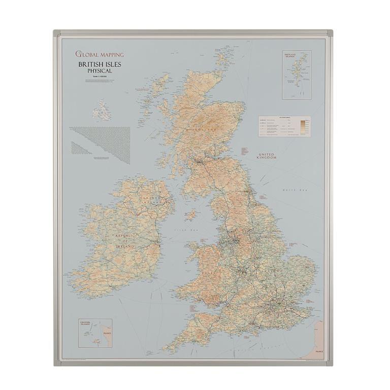 Drywipe UK road and terrain map