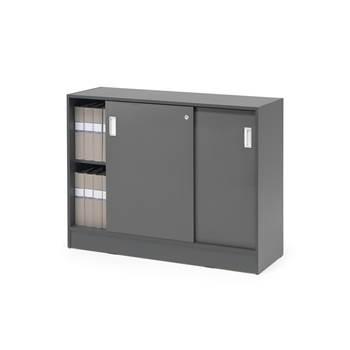 Skåp Flexus med skjutdörrar, 925x1200x415, grå, grå