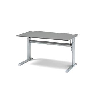 Standing desk, Flexus, straight, L1200 mm, grey laminate