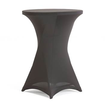 #en Stretch cover for bar table, black