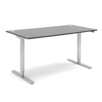 Flexus standing desk, straight, 1600x800 mm, grey laminate
