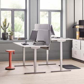 Flexus standing desk, straight, 1800x800 mm, white laminate