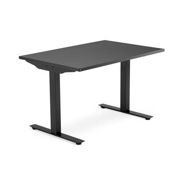 Modulus desk, T-frame, 1200x800 mm, black frame, black