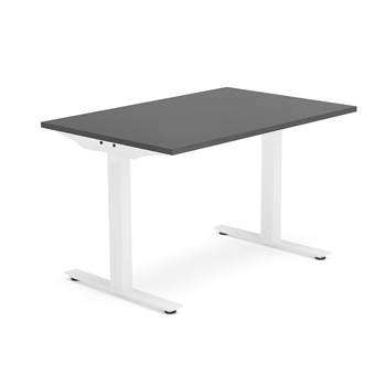 Modulus desk, T-frame, 1200x800 mm, white frame, black