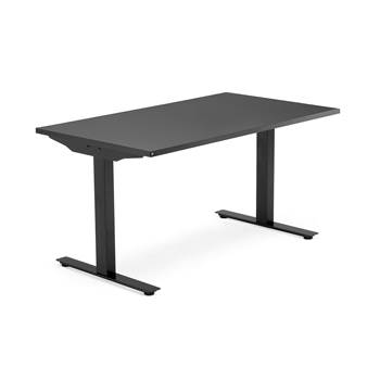 Modulus desk, T-frame, 1400x800 mm, black frame, black