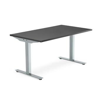 Modulus desk, T-frame, 1400x800 mm, silver frame, black