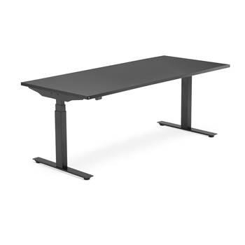 Skrivebord Modulus, el t-stativ, 1800x800 mm, svart, svart